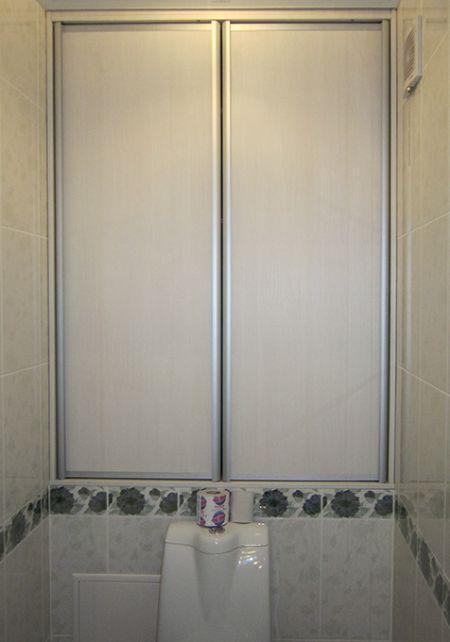 Встроенные шкафы в туалете своими руками